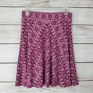 Ann Taylor Loft | Soft Stretchy Tribal Print Skirt